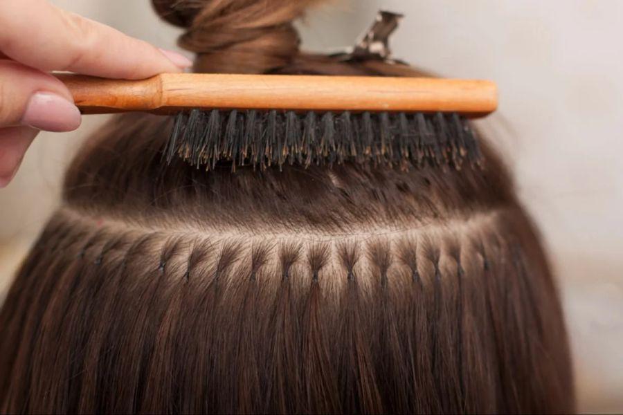 Холодное капсульное наращивание волос