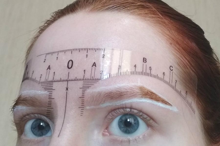 линейка для бровей пропорции форма бровей