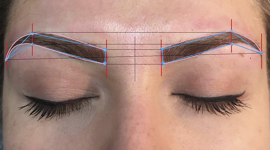 линейка для бровей как определить контуры брови